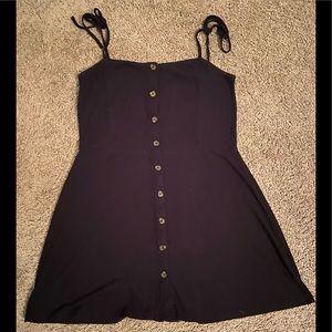 Black mid summer dress